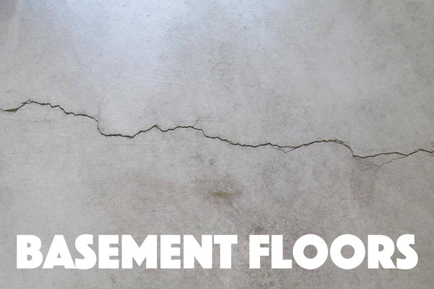 Basement Floor With Cracking