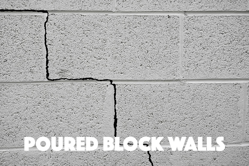 Poured Block Wall